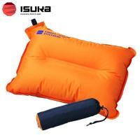 「イスカ(ISUKA) ノンスリップピロー パーシモン」は、自動膨張式のエアピロー(枕)です。背面の...