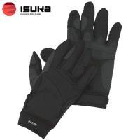 「イスカ(ISUKA) ウェザーテック トレッキンググローブ ブラック S」は、手の甲に吸汗性の良い...