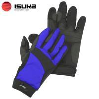 「イスカ(ISUKA) ウェザーテック トレッキンググローブ ロイヤルブルー M」は、手の甲に吸汗性...