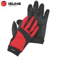 「イスカ(ISUKA) ウェザーテック トレッキンググローブ レッド S」は、手の甲に吸汗性の良い人...
