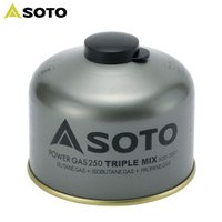 「ソト(SOTO) パワーガス250トリプルミックス SOD-725T」は、プロパン、イソブタン、ノ...