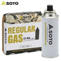「ソト(SOTO) レギュラーガス3本パック ST-7001」は、ノーマルな液化ブタンガス3本パック...