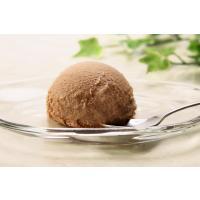 チョコ味の業務用2Lサイズアイスです。  通常の一般的なサイズのディッシャーを使うと(アイスを丸くと...