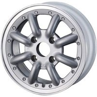WATANABE ワタナベ New RS8 5.00-15 FR:4H/100 シルバーメタリック・...