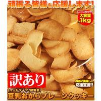 (ハードタイプ/固焼き)  【訳あり】豆乳おからプレーンクッキー約100枚!!    納得のボリュ...