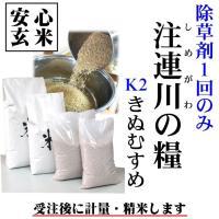 ●農薬不使用栽培「注連川の糧」きぬむすめ ・生産グループ独自基準【K2】 (有機質肥料100% 農薬...