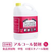 日本製 エタノール製剤 5L 在庫あり 即納 e-style アルコールサニタイザー65 アルコール除菌液 ウイルス対策 業務用