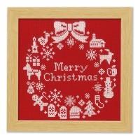 クロスステッチでいろどる、かわいい・楽しい・クリスマス!
