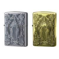 マリアとギリシャ十字が表裏に刻まれたZIPPOです。