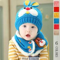 ベビー赤ちゃんキッズ子供用のニットに兎の耳付き帽子! お耳がついてるようで、とても愛らしいです!
