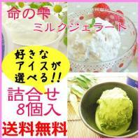 ◆商品名:木村ミルクジェラート(命の雫)・8個入詰合せ ◆種類別名称:アイスミルク ◆無脂乳固形分:...