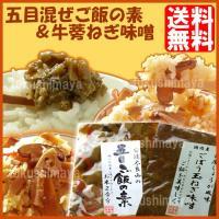 ◆商品名:五目炊き込みご飯の素と牛蒡玉ねぎ味噌の漬物セット ◆原材料: ◆五目炊き込みご飯の素…竹の...