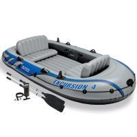 INTEX インテックス エクスカーション4 ゴムボート 高性能4人乗りゴムボートセット 大容量・高...