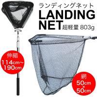 POINT&LINE 伸縮式ランディングネット 190cm 釣場・渓流・フライなど 様々な釣...