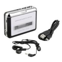 カセットテープの音源をMP3等デジタルデータに簡単変換。 カセットテーププレーヤーとしても使えて、持...