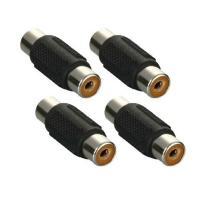 RCA端子のプラグ(オス)同士を接続するための中継コネクタです。 防犯カメラや車載カメラ等の映像ケー...