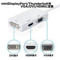 本製品はMini DisplayPort/Thunderboltを HDMI/DVI-I/VGAに変...