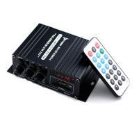 Bluetooth対応 2chオーディオアンプ 出力20W+20W USB/SDカード再生可 アルミボディ Hi-Fiステレオアンプ 2Aアダプター/リモコン付 多機能パワーアンプ LPAK370