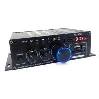 Bluetooth5.0対応 小型2chオーディオアンプ 出力40W+40W USB/SDカード再生可 アルミボディ Hi-Fiステレオ 12V/2Aアダプター/リモコン付  LPAK380
