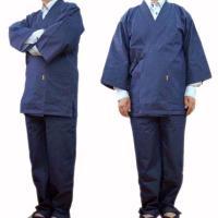 デニム8オンス作務衣(WAJIN)はデニムの厚手でお手入れ簡単の気楽な着心地はあらゆる場面を快適にし...