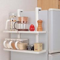 ■商品説明: 冷蔵庫の側面にひっかけて、棚として活躍、便利なサイドラックです。  ■サイズ: 幅50...