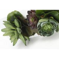 アートフラワー「GREEN PARK」ウォールデコレーション/多肉M[PRGR-0184白] 送料無料【人口観葉植物 造花 観葉植物 インテリア グリーン フェイクグリーン】