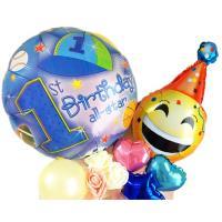 1歳誕生日プレゼントバルーンにビックリ☆1歳誕生日バルーンフラワーアレンジメント!バルーンフラワーで1才の誕生日を華やかに祝おう★1歳 誕生日プレゼント