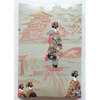 ●京都の舞妓さんに金閣寺・大文字・伏見稲荷の鳥居を背景に高級感あふれる特上合金襴の生地で装丁された御...