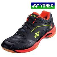 ヨネックス YONEX パワークッション65Z SHB65Z-412 男女兼用 バドミントンシューズ メンズ レディース 3E 黒 赤