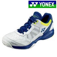 ヨネックス YONEX パワークッション 203 SHT203-100 メンズ レディース 兼用 テニスシューズ オールコート用 初心者向け テニス部 3E幅 ホワイト 特価