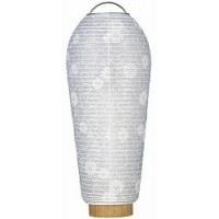 モダンな白紋天です。 コンパクトなので棚の上、小型のお仏壇にピッタリです LED電池灯ローソクが付い...