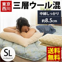 毎年ご好評いただいている東京西川の敷き布団がマイナーチェンジして今年も復活!厚み約7cmのしっかりタ...