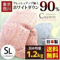 安心品質の東京西川(西川産業)・国産羽毛布団  保温性・かさ高性に優れたフランス産ダウン90%、たっ...