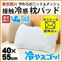 お試しメール便・送料無料★触れた瞬間、ひんやり気持ちいい枕パッド。  ひんやりのヒミツはレーヨンとナ...