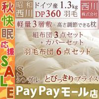 ◆商品名:西川リビング羽毛布団6点セット シングル  掛け敷き布団セット ◆商品お問合せ番号:461...