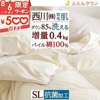 ◆商品名:肌掛け布団 シングル 羽毛布団 夏用 掛け布団 西川 ◆商品お問合せ番号:46454 ◆メ...