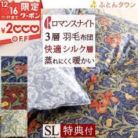 ◆商品名:羽毛布団 シングル 日本製 掛け布団 ダウン90% ウィリアム・モリス 寝具 ◆商品お問合...