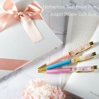 名入れ無料「名入れハーバリウムボールペン」「リボンラッピング付きエンジェルピローボックス」ギフト包装 ネコポス送料無料 芯10mm