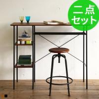 ■サイズ  ・テーブル:幅120×奥行40×高さ95.5cm ・天板下棚:幅79×奥行25.5×高さ...