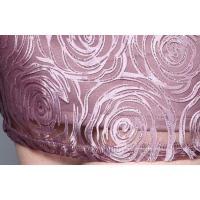 パーティードレス 半袖 ミニ丈 花柄 刺繍 大きいサイズ 結婚式 二次会 宴会 お呼ばれ 韓国 パープル 紫 バックジッパー 華やか 上品