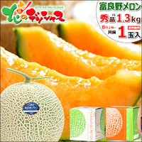 ■商品名:北海道産 富良野メロン ■商品内容:1箱 1玉入り(秀品/1玉 約1.3kg) ※品種:R...