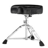 パールの大きめでソフトな座り心地のモーターサイクル型のサドルシートを採用したドラム・スローンです。 ...