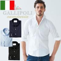 [シンプルシャツこそ、生地とシルエットを吟味したい] ・イタリア製 ・定番のホリゾンタルカラーのカジ...