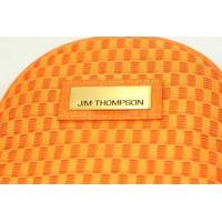 JIM THOMPSON ジムトンプソン コインパース ポーチ チェックジャガード柄 オレンジ 幅9.5x高さ8.5xマチ2.5cm シルク タイ高級ブランド ジムトンプソン