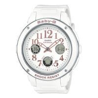 [5年間保証対象]カシオ ベビーG BGA-150 ベース アナデジ レディース 腕時計 ホワイト ...