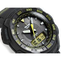 CASIO PROTREK カシオ 海外モデル プロトレック  ソーラー アナデジ腕時計 ブラック×...