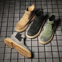 サイドゴアブーツメンズショートブーツ靴カジュアルシューズ無地紳士靴スエード歩きやすい