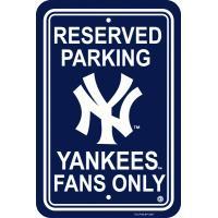 ニューヨーク・ヤンキースのMLBパーキングサインです。 アメリカでは、自宅の駐車スペース以外にも、室...
