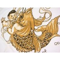 和柄 刺青Tシャツ(半袖) [暴れ鯉]【刺青シリーズ】 【S】【M】【L】【XL】