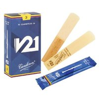 V21 B♭クラリネット用リード (10 枚入り)  ティップ:0.10mm ヒール:3.25mm ...